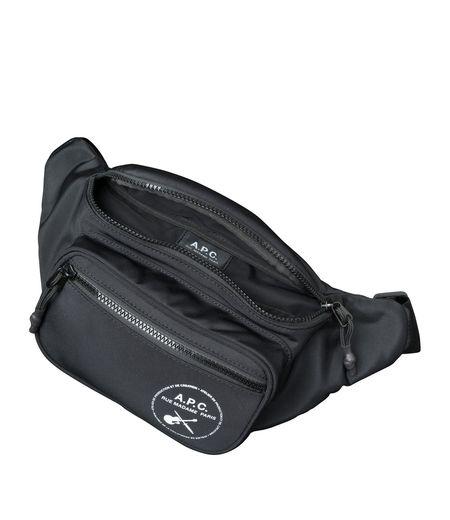 A.P.C. Guitar Logo Shoulder Bag - Black