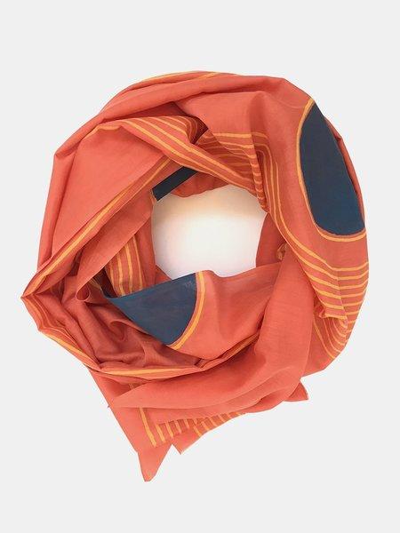 block shop duet scarf - coral