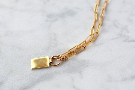 Verdalina Rectangle Tag Necklace