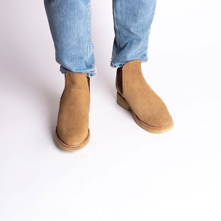 Cano Armando Chelsea Natural Boot  - Beige Suede