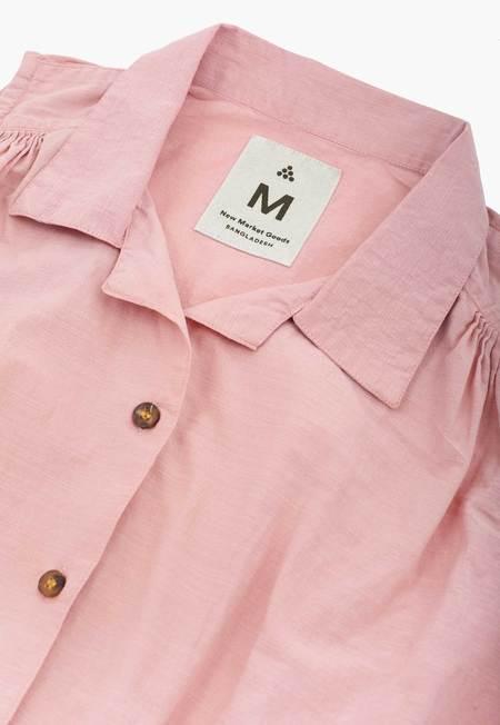 New Market Goods Madder Tie Front Shirt - Pink