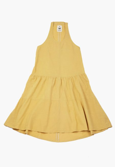 Deshal Buckthorn Racerback Dress - Yellow