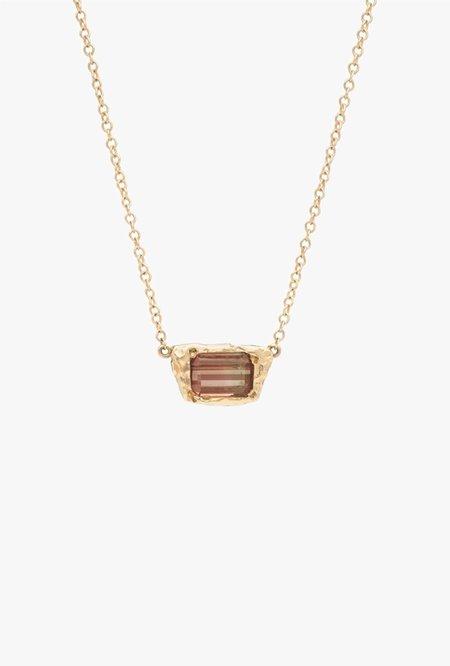 Fie Isolde Freja Necklace with Precious Stone
