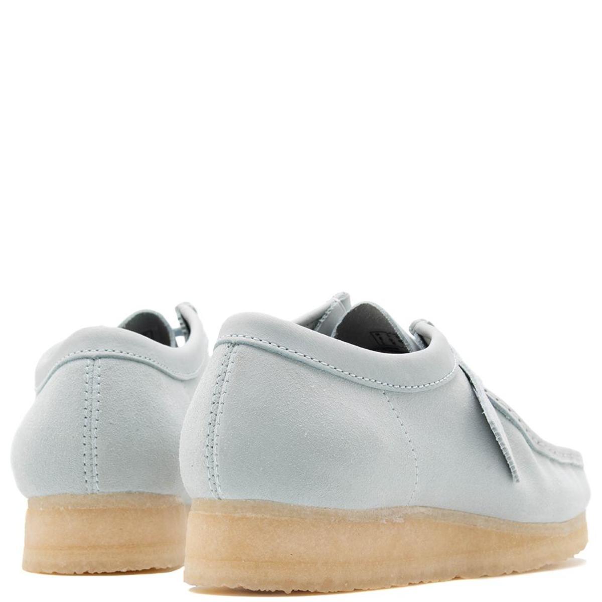 Light Blue Combi Clarks Originals Wallabee Suede Shoes