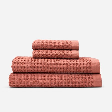 Slowtide Guild Waffle Two Piece Bundle Towel - Terracotta