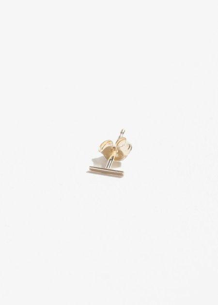 Jerry Grant Short Stick Single Stud - 14K Gold