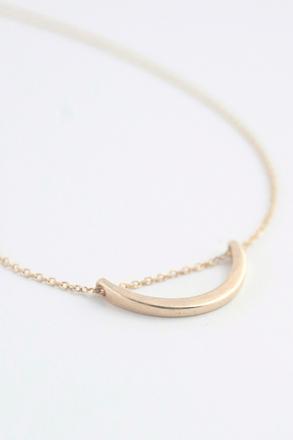 Emi Grannis Crescent Necklace 14k Yellow Gold