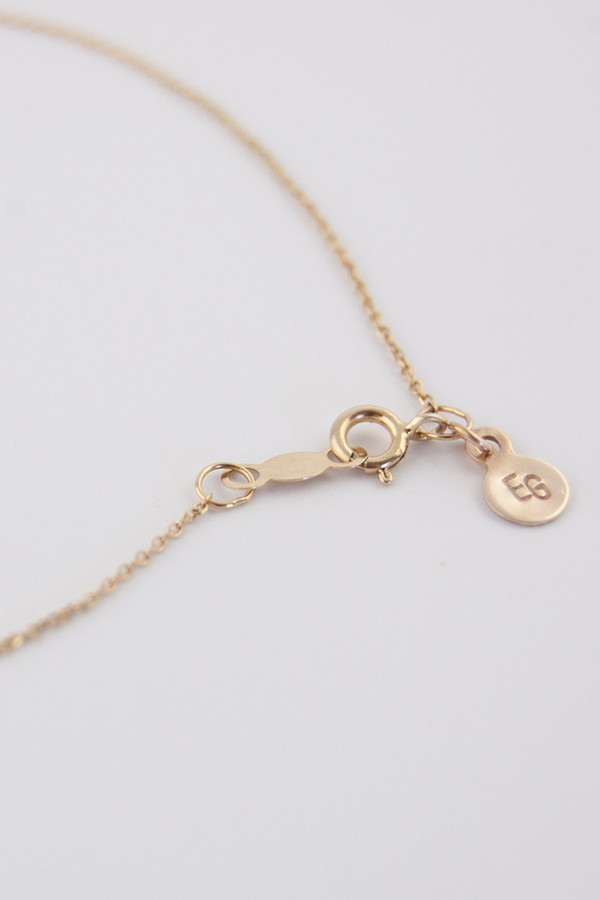 Emi Grannis Hammered Bar Necklace 14k Yellow Gold