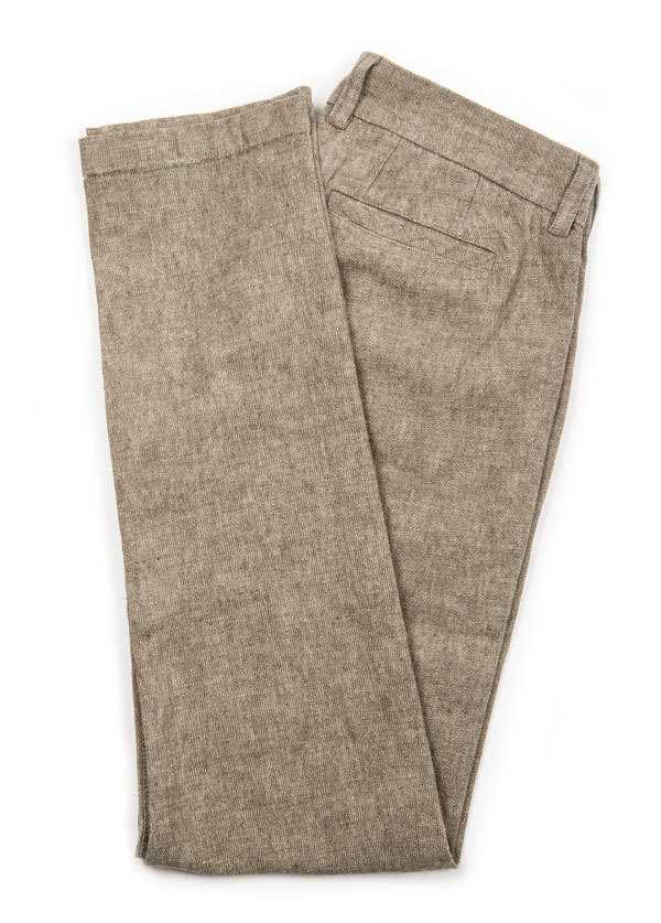 The West is Dead - Men's Slim Chino Pant in Tan Chambray