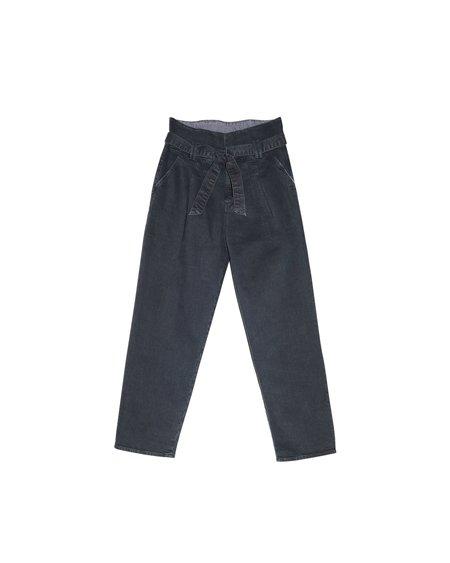 Mother Denim Greaser Paper Bag Jean - Faded Black