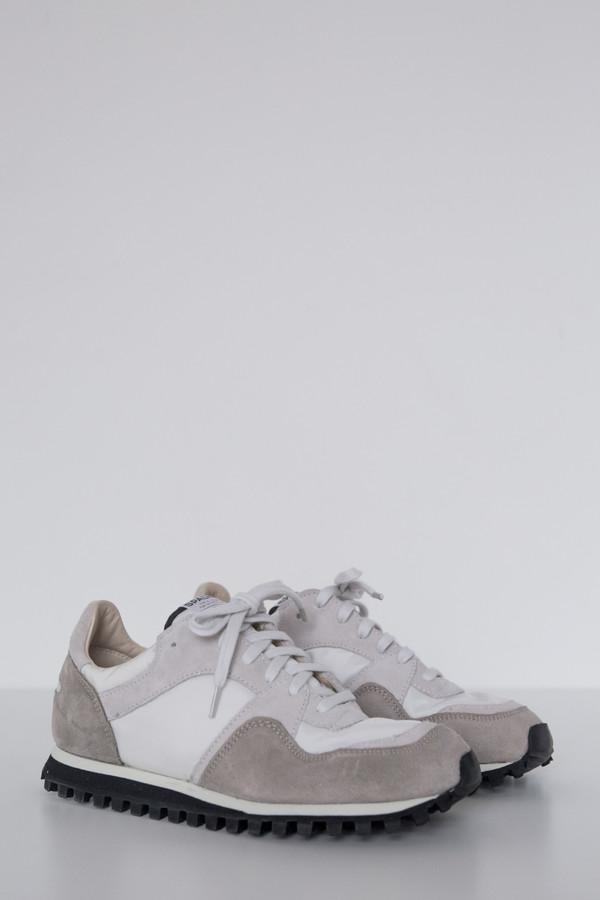 Suede Marathon Low Trail Shoe - White