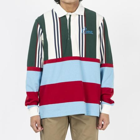 by Parra Split Personality Rugby Shirt - Stripes