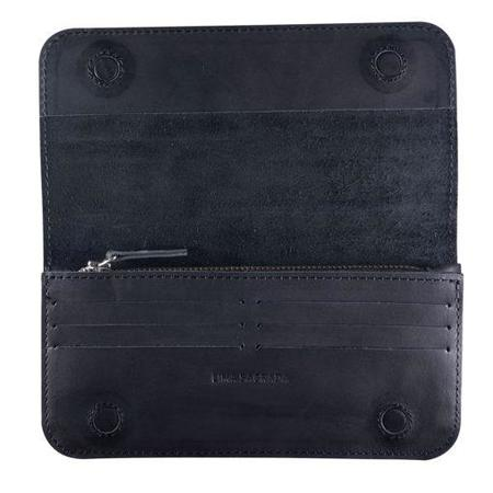 Lima Sagrada Tina Wallet - Smooth Black Leather