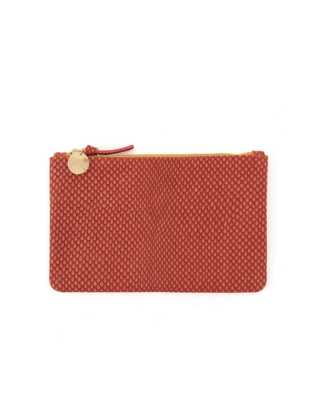 Clare V. Wallet Clutch - POPPY REPTILE