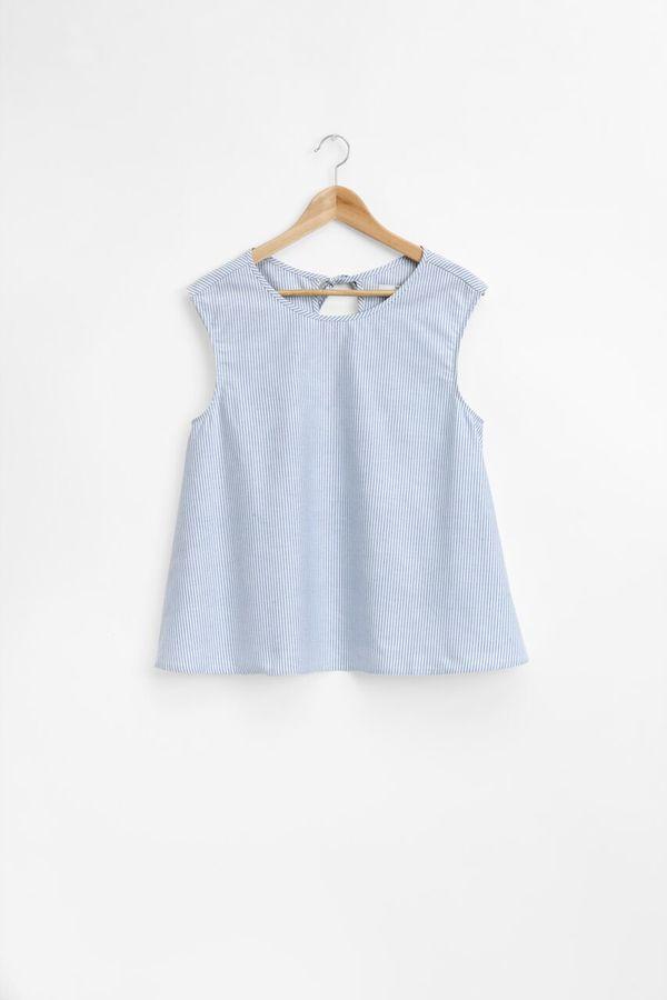 The Sleep Shirt Classic Top Blue Oxford Stripe