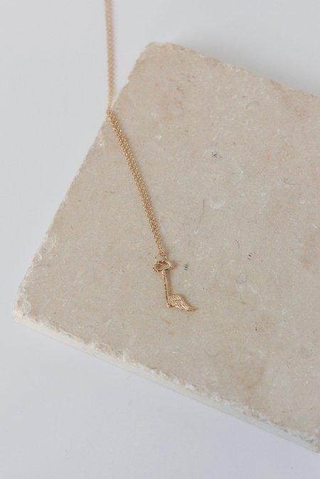 Sofia Zakia Angel Key Necklace - Gold