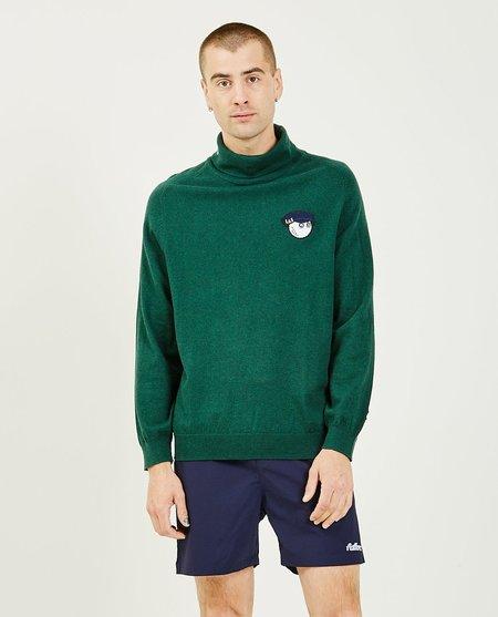 Malbon Golf x Lyle & Scott Rollneck Sweater - Jade Green