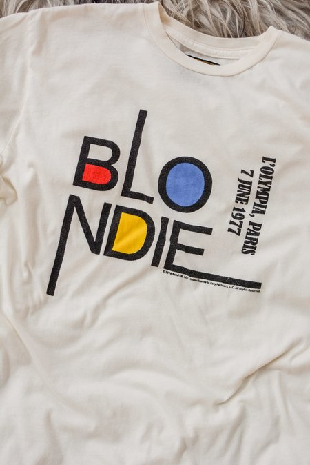 Unisex Retro Brand Black Label Blondie Paris 1977 Tee - White