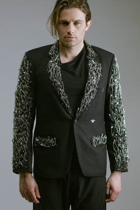 Any Old Iron Safety Pin Blazer