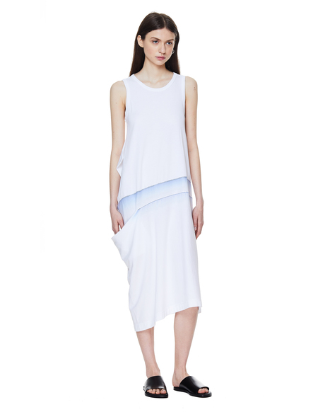 Y's Cotton Tank Dress - White
