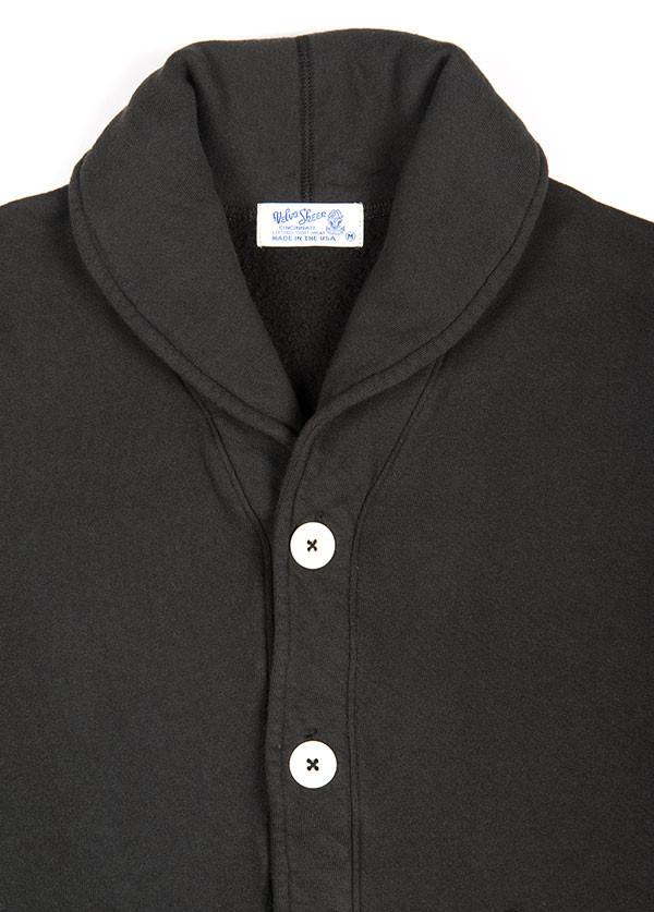 Velva Sheen - Men's Shawl Cardigan in Black