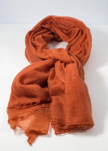 IRIS DELRUBY Flywing cashmere scarf - dust orange