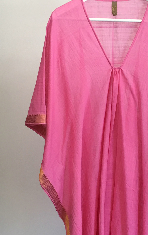Two Pink Manga Caftan
