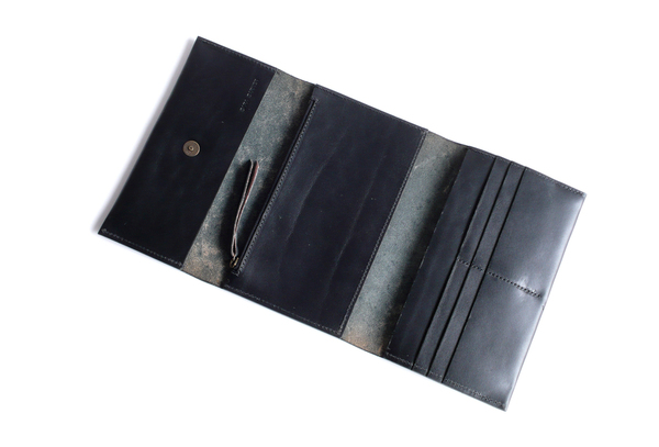 Large Triflod Wallet - Black