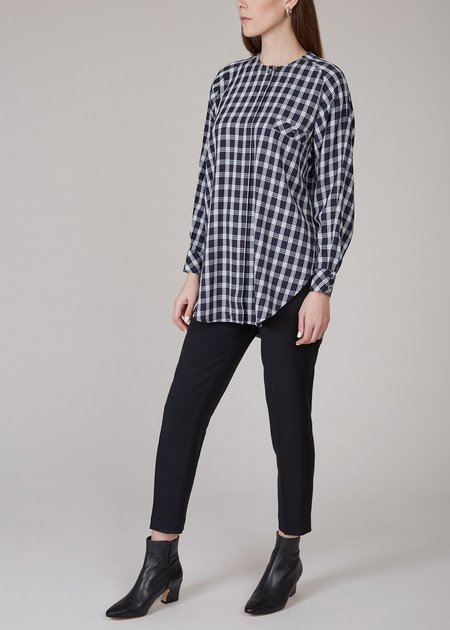 MR. LARKIN Queenie plaid shirt - navy