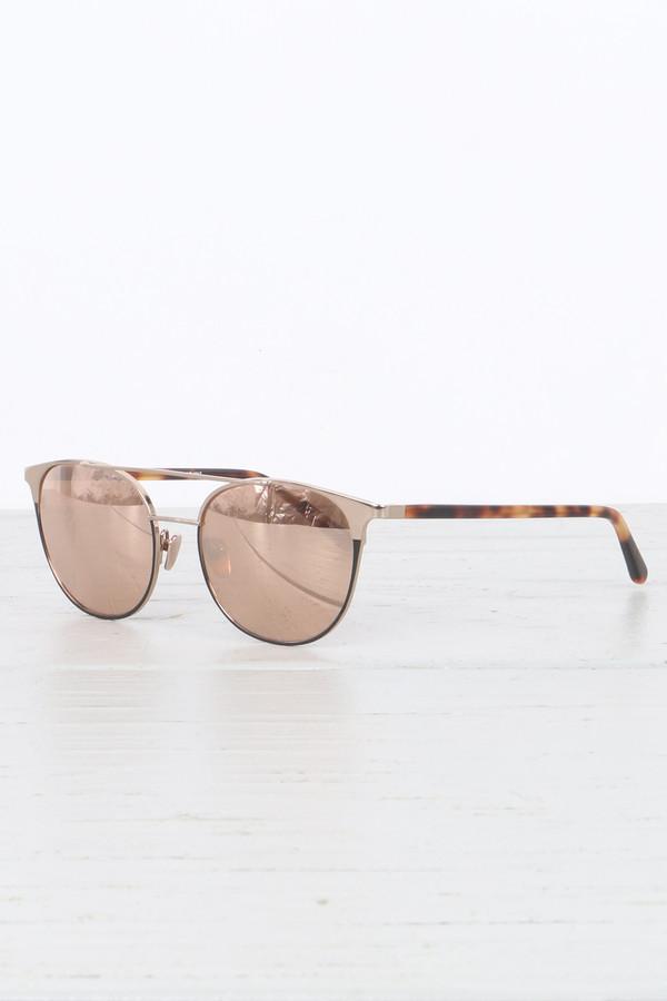 Linda Farrow Straight Browline Sunglasses