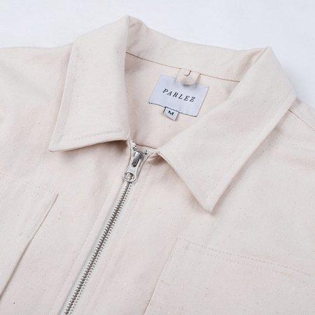 Parlez Sparkman Zip Overshirt - Ecru