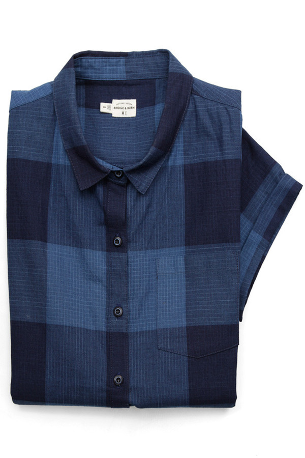 Bridge & Burn Bea Indigo Plaid