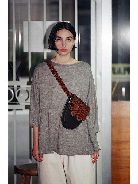 Ashya Palmetto Belt Bag - Brown Viper