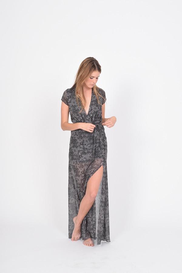 BETWEEN TEN Abstract Dress - Grey