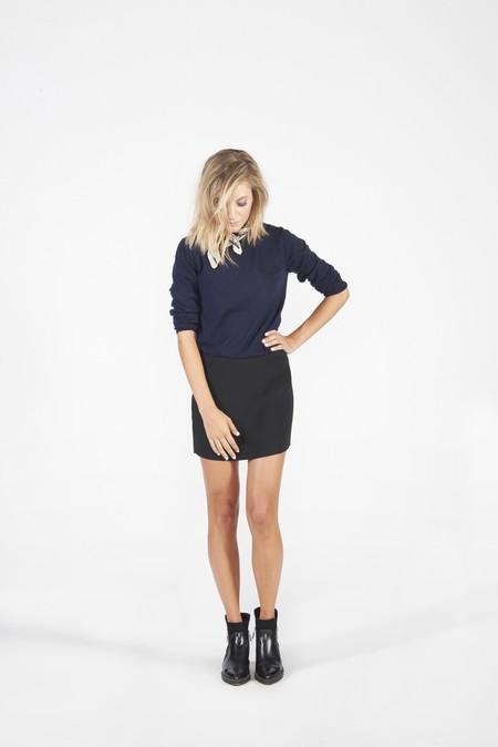 BETWEEN TEN Maribel Mini Skirt - Black Silk
