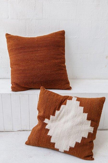 Pampa Puna Floor Cushion #09 - rust/white