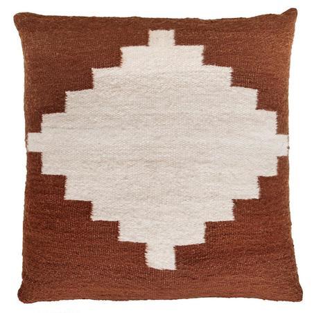 Pampa Puna Floor Cushion #11 - rust/white
