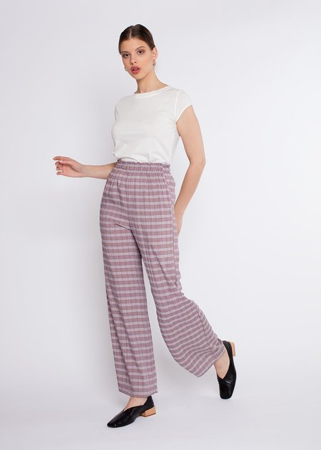 Shaina Mote Lounge Pants - Lavender Check
