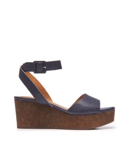 Coclico Metropol Sandal in Frida Navy/Cork Ramis