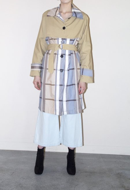EI8HTDREAMS Roma Trench Coat - PLAID