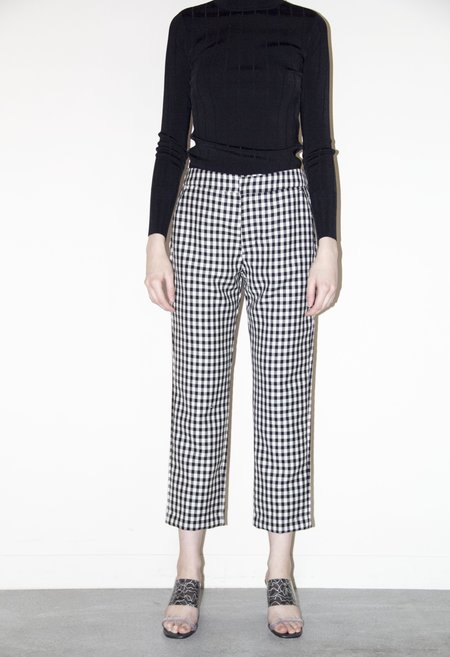 EI8HT DREAMS Stockholm Tapered Crop Trouser - BLACK/WHITE