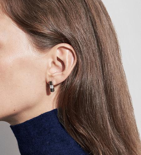 Luz Ortiz Tali Earrings - Silver/White