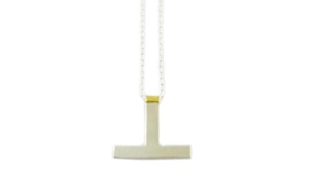 Natalie Joy  Silver T Necklace