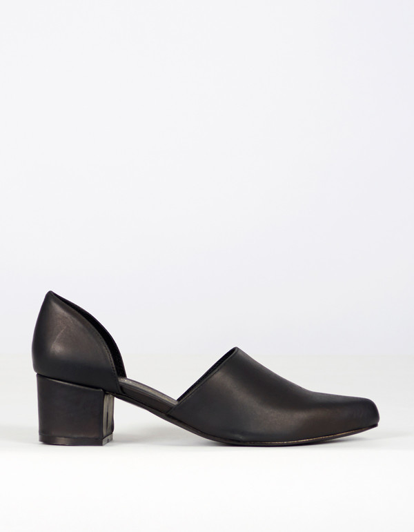 Intentionally Blank Perf D'Orsay Heel Black