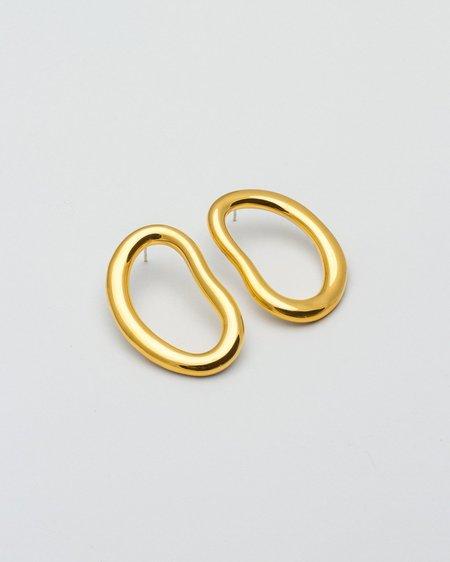 Pedrusco Pendientes Eman XL Hoop - Oro