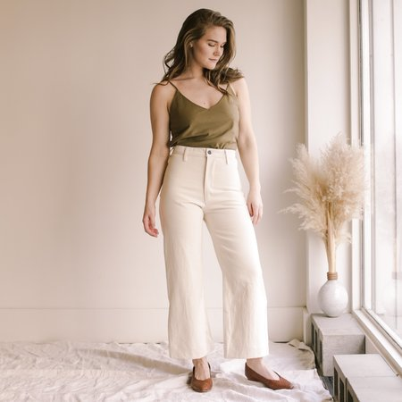 Ozma High Rise Wide Leg Pant - Putty
