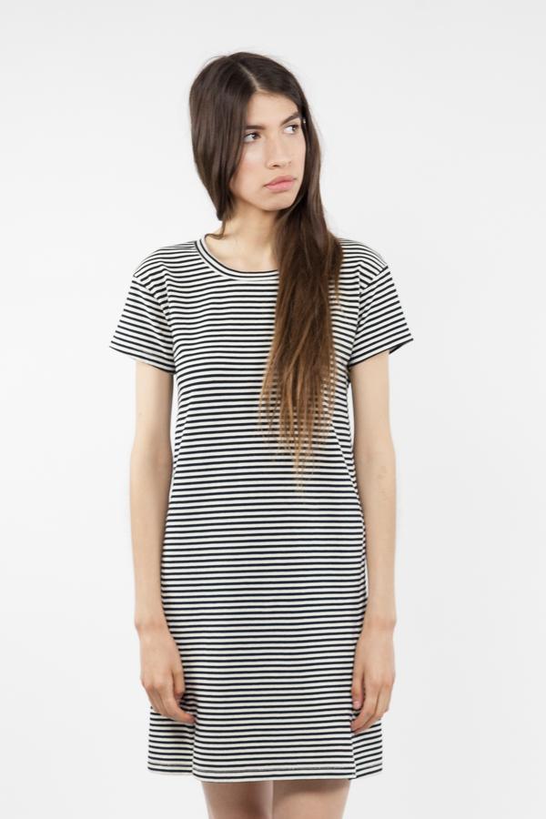 Twist Dress - Mini Stripe