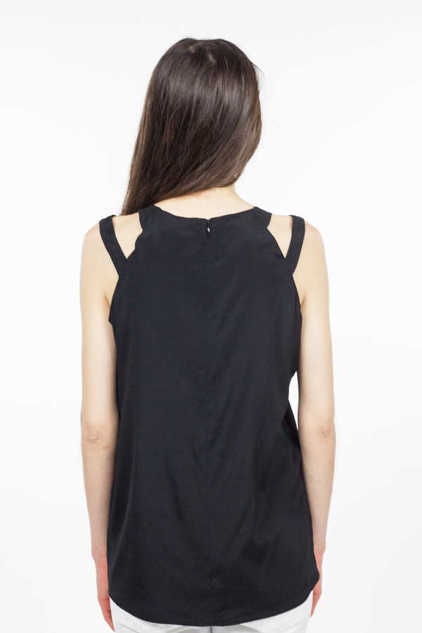 Emerson Fry Cut-Out Top - Black