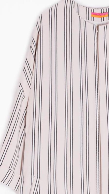 Vilagallo Irene Coat - Camel Stripe