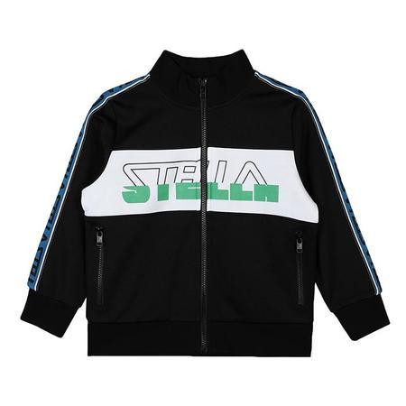KIDS Stella McCartney Child Zip Up Logo Sweatshirt - Black